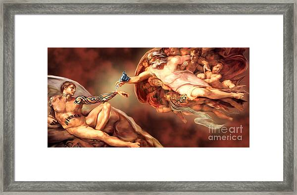 Tattooed Creation By Spano Framed Print