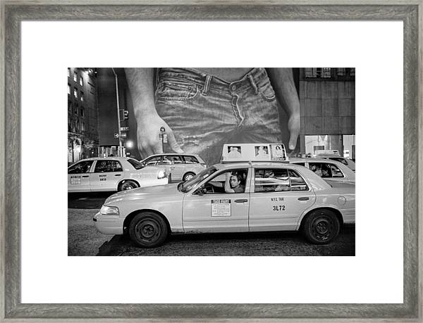 Taxis On Fifth Avenue Framed Print