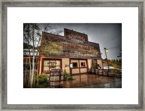 High West Distillery Framed Print