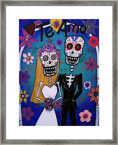 Te Amo Wedding Dia De Los Muertos Framed Print
