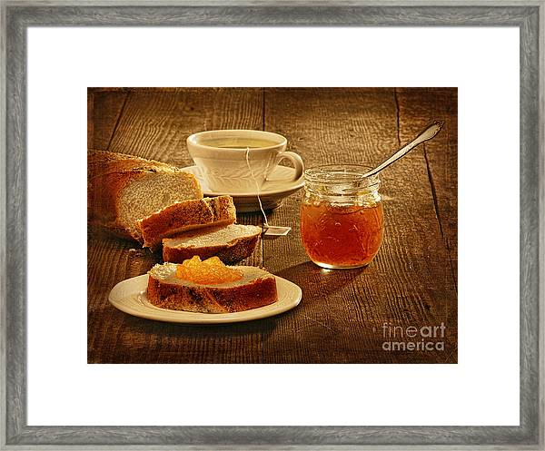 Tea And Bread Framed Print