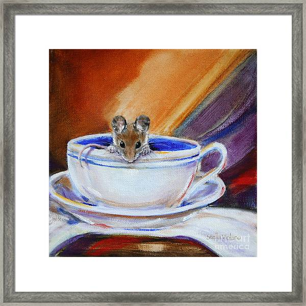 Tea Mouse Framed Print by Stella Violano