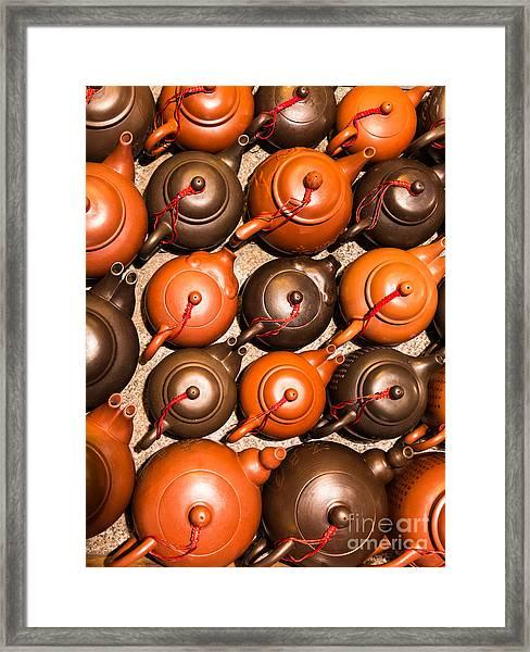 Tea Pots Framed Print