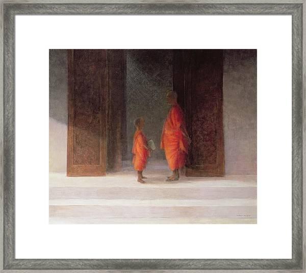 Teacher, 2005 Acrylic On Canvas Framed Print