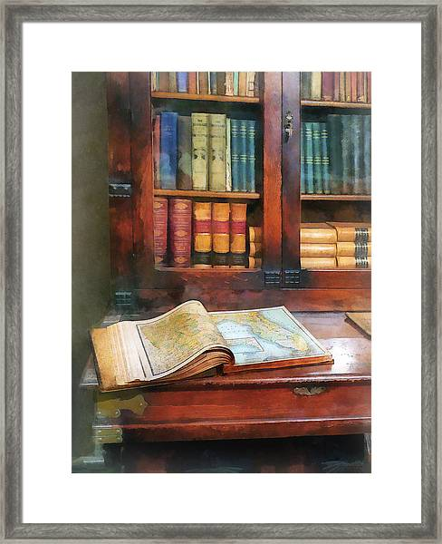 Teacher - Geography Book Framed Print