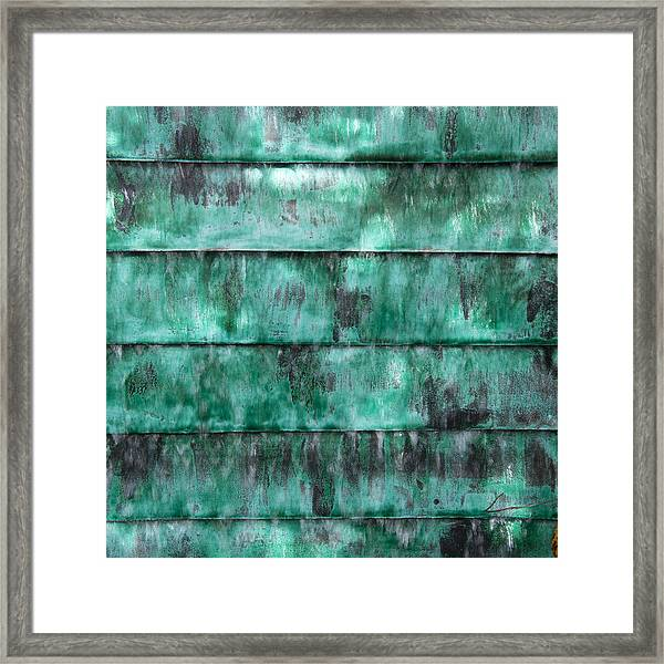 Teal Water Panels Framed Print