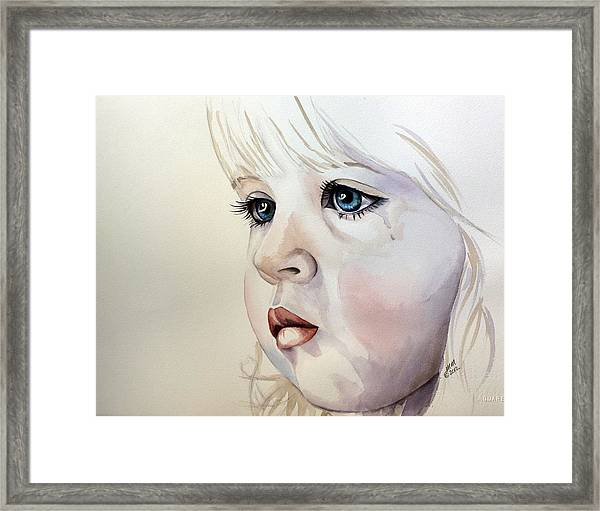 Tear Stains Framed Print
