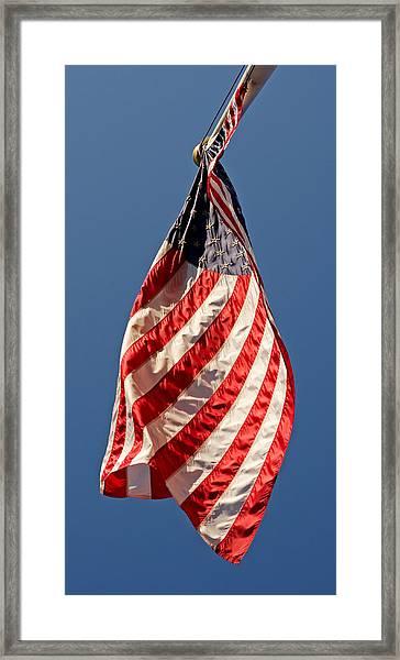 Teardrop Banner 2011  Framed Print