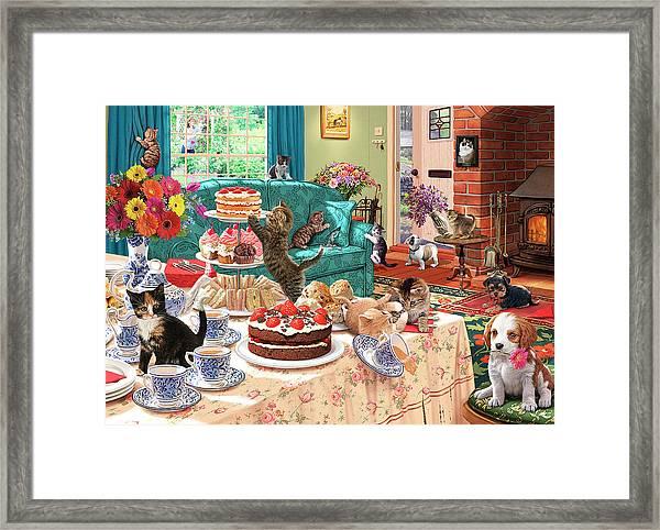 Teatime Terrors Framed Print