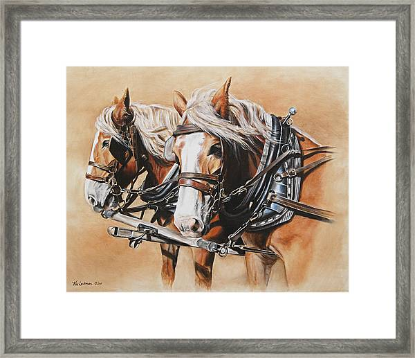 Ted And Tom Framed Print