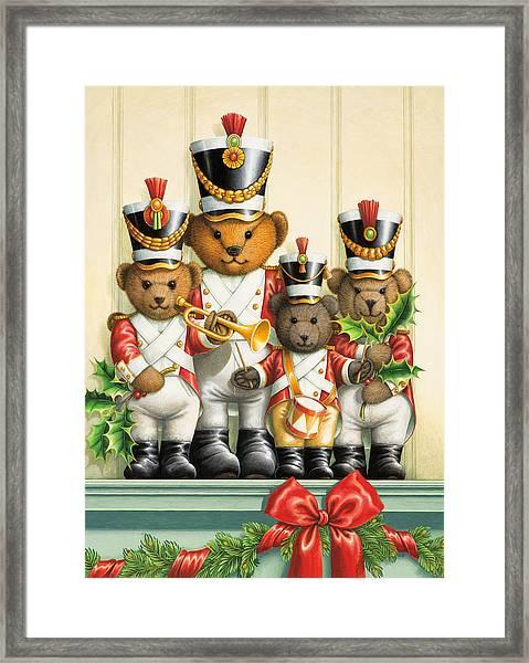 Teddy Bear Band Framed Print