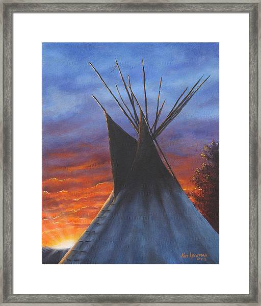 Teepee At Sunset Part 2 Framed Print