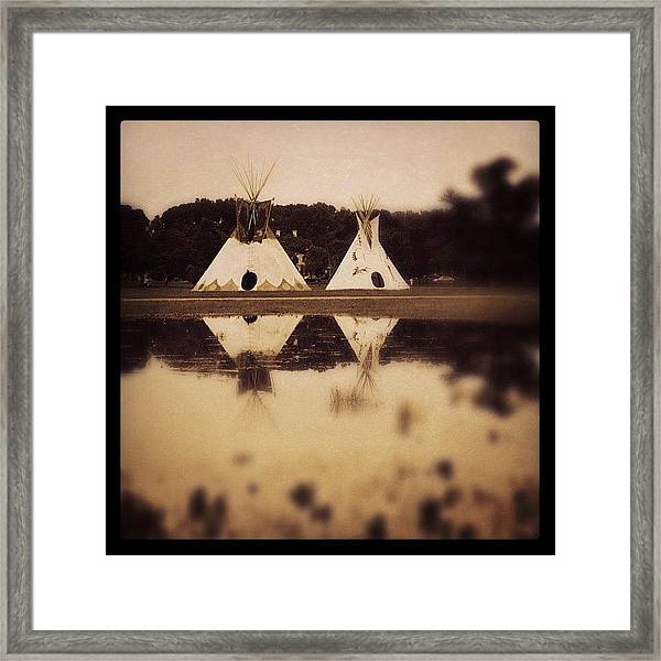 Teepees In Town  Framed Print