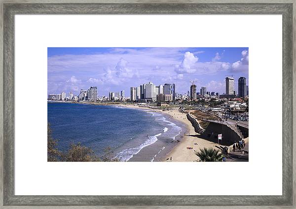 Tel Aviv Beach Framed Print