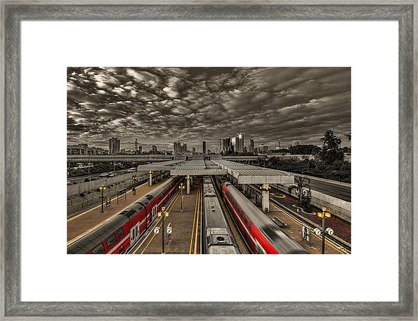 Tel Aviv Central Railway Station Framed Print