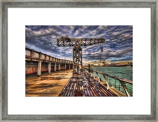 Tel Aviv Port At Winter Time Framed Print
