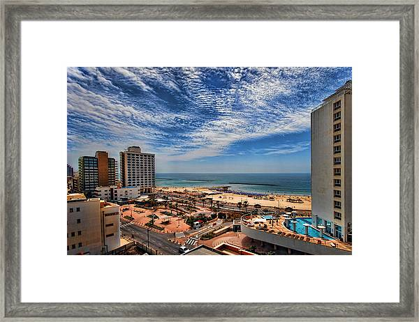 Tel Aviv Summer Time Framed Print