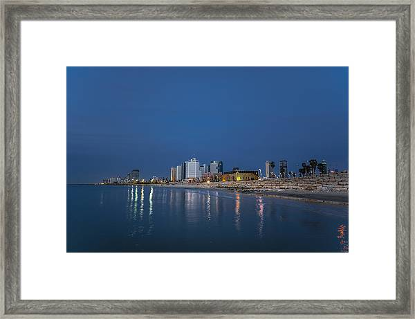 Tel Aviv The Blue Hour Framed Print