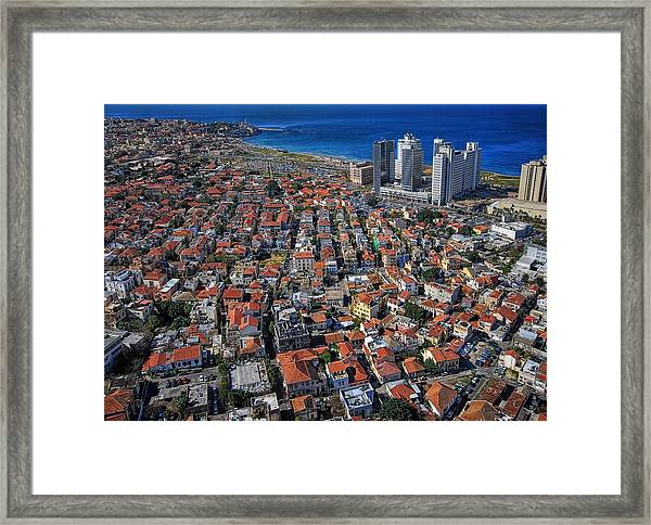 Tel Aviv - The First Neighboorhoods Framed Print