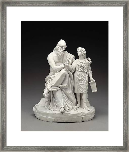 Telemachus And Mentor. 1770. Made Framed Print