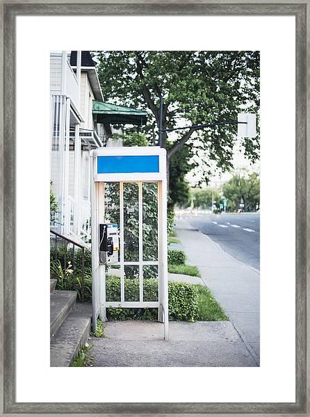 Telephone Booth Framed Print by Linda Raymond