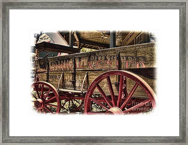 Temecula Wagon Framed Print