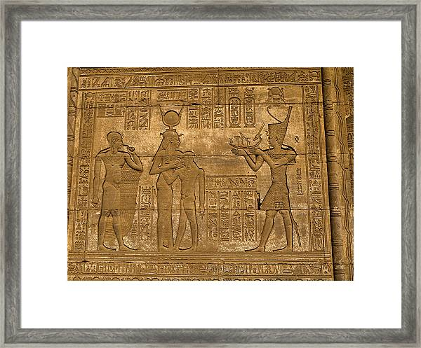 Temple At Denderah Egypt Framed Print