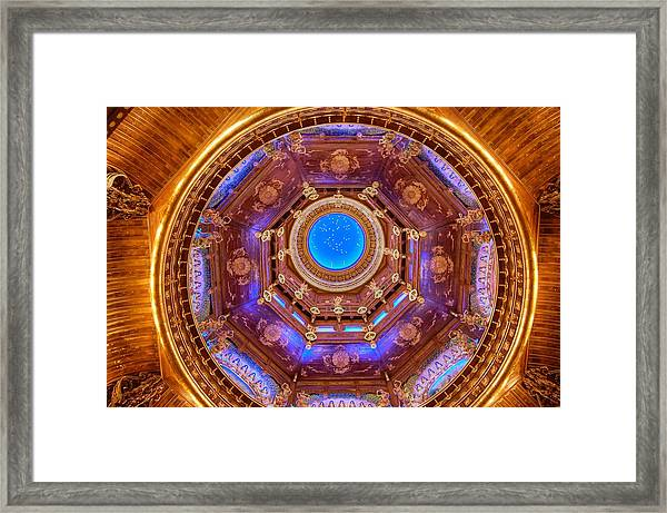 Temple Ceiling Framed Print