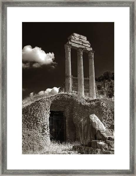 Temple Of Castor And Polux Framed Print