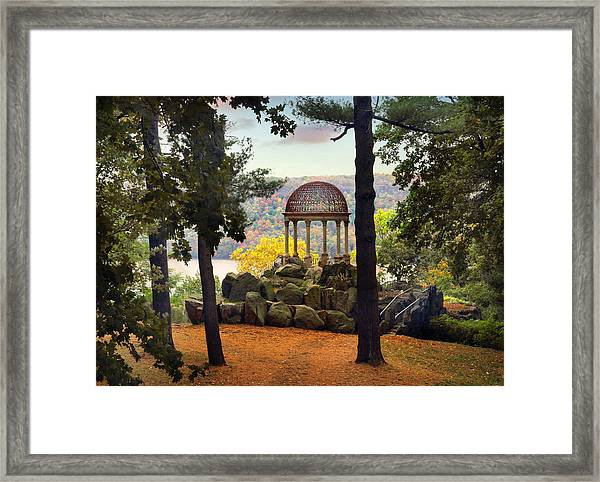 Temple Of Love In Autumn Framed Print