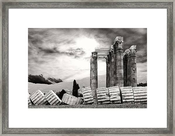 Temple Of Olympian Zeus Framed Print
