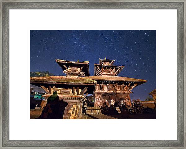 Temple Of Panauti Framed Print by Babak Tafreshi/science Photo Library