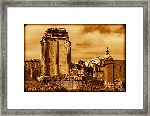 Temple Of Vesta Framed Print