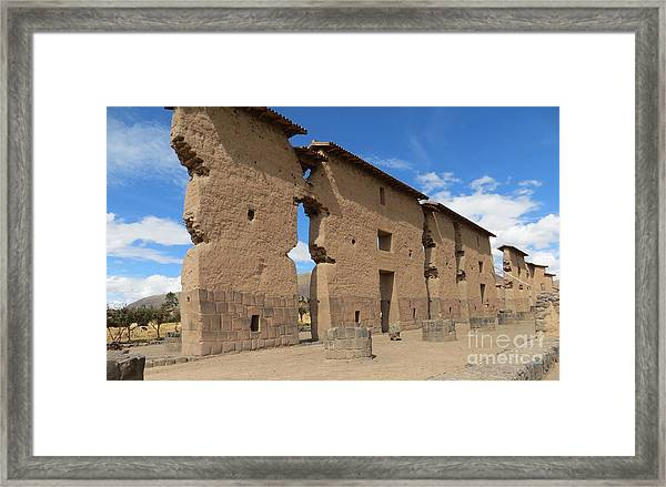 Temple Of Wiracocha Framed Print