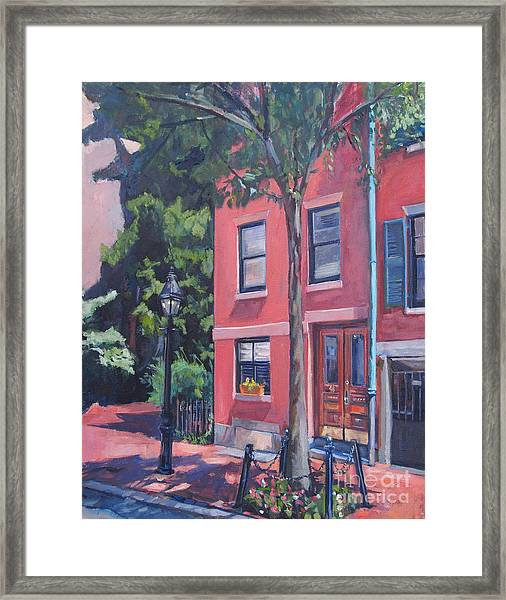 Temple Street Beacon Hill Framed Print