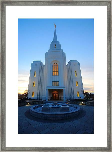 Temple Work Framed Print
