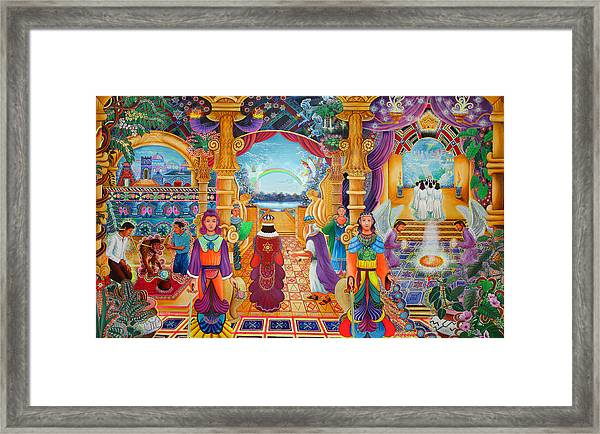 Framed Print featuring the painting Templo Sacrosanto by Pablo Amaringo