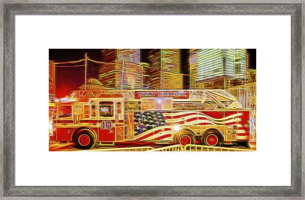 Ten Truck Framed Print