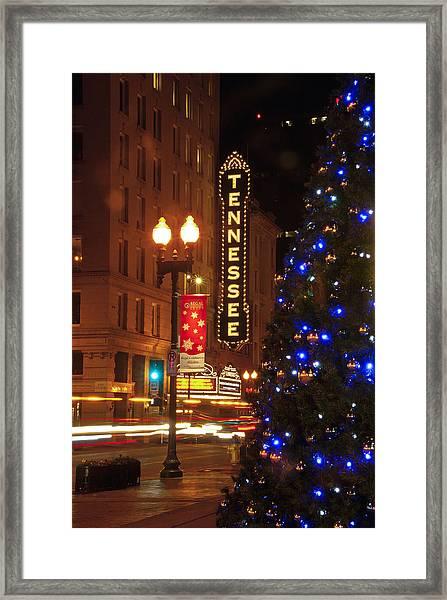 Tennessee Christmas Framed Print