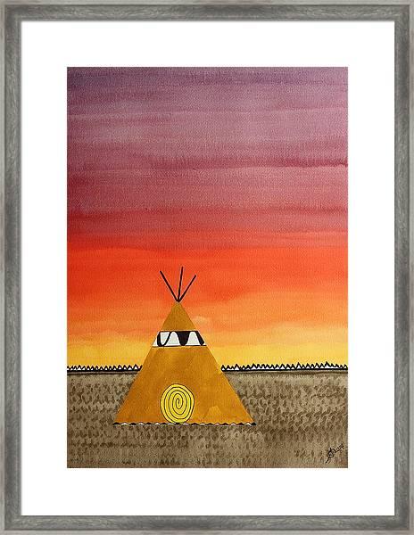 Tepee Or Not Tepee Original Painting Framed Print