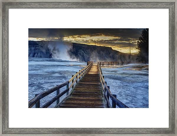 Terrace Boardwalk Framed Print