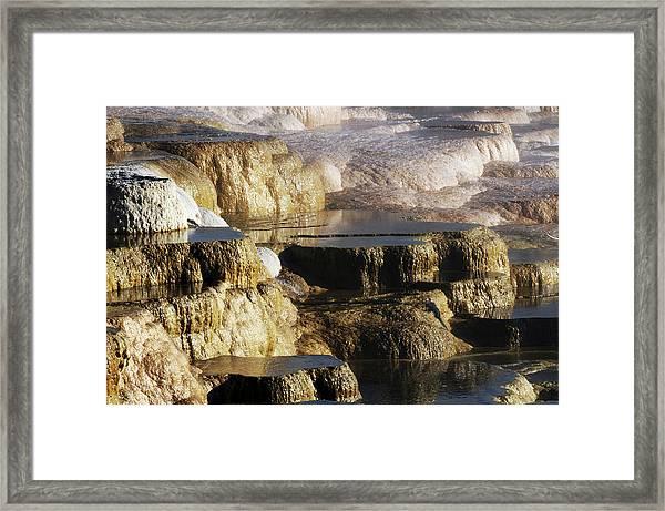 Terraces, Mammoth Hot Springs Framed Print
