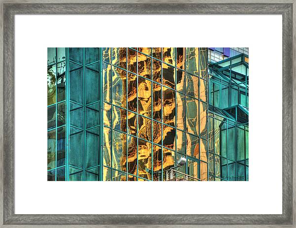 Terrific Warsaw Under Construction Glass Reflections Framed Print