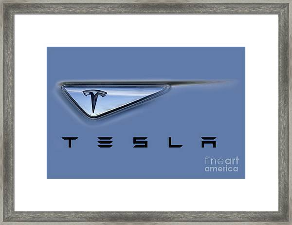 Tesla Artwork Framed Print