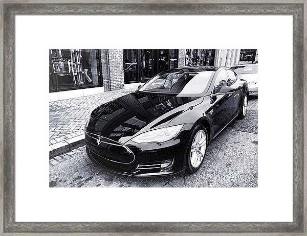 Tesla Model S Framed Print