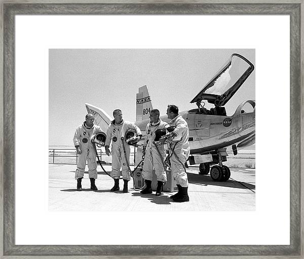 Test Pilots And Northrop Hl-10 Framed Print