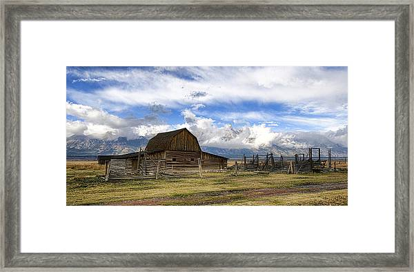 Framed Print featuring the photograph Teton Barn 2 by David Armstrong