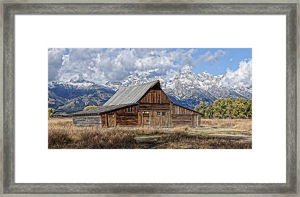 Framed Print featuring the photograph Teton Barn 3 by David Armstrong