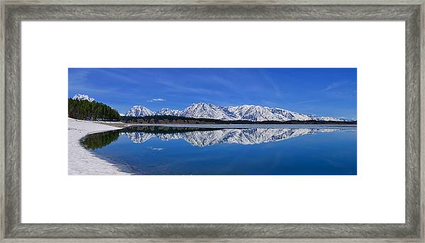 Teton End Of Winter Reflections Framed Print