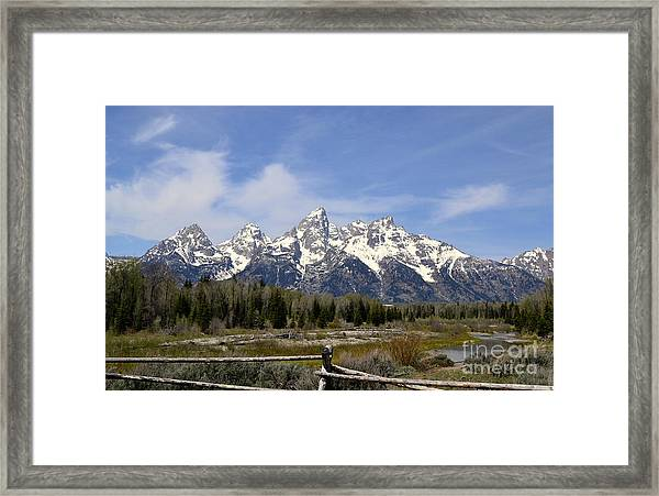 Teton Majesty Framed Print